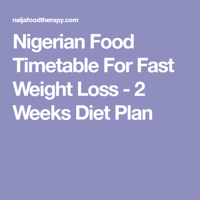 How do i lose weight with nigerian food