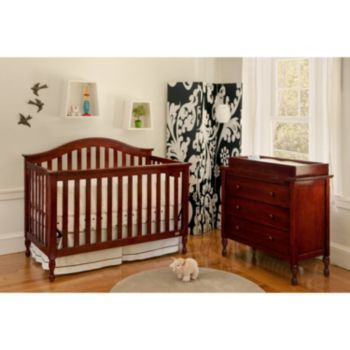 Lolly Me Bailey Convertible Crib Changing Table Dresser Set