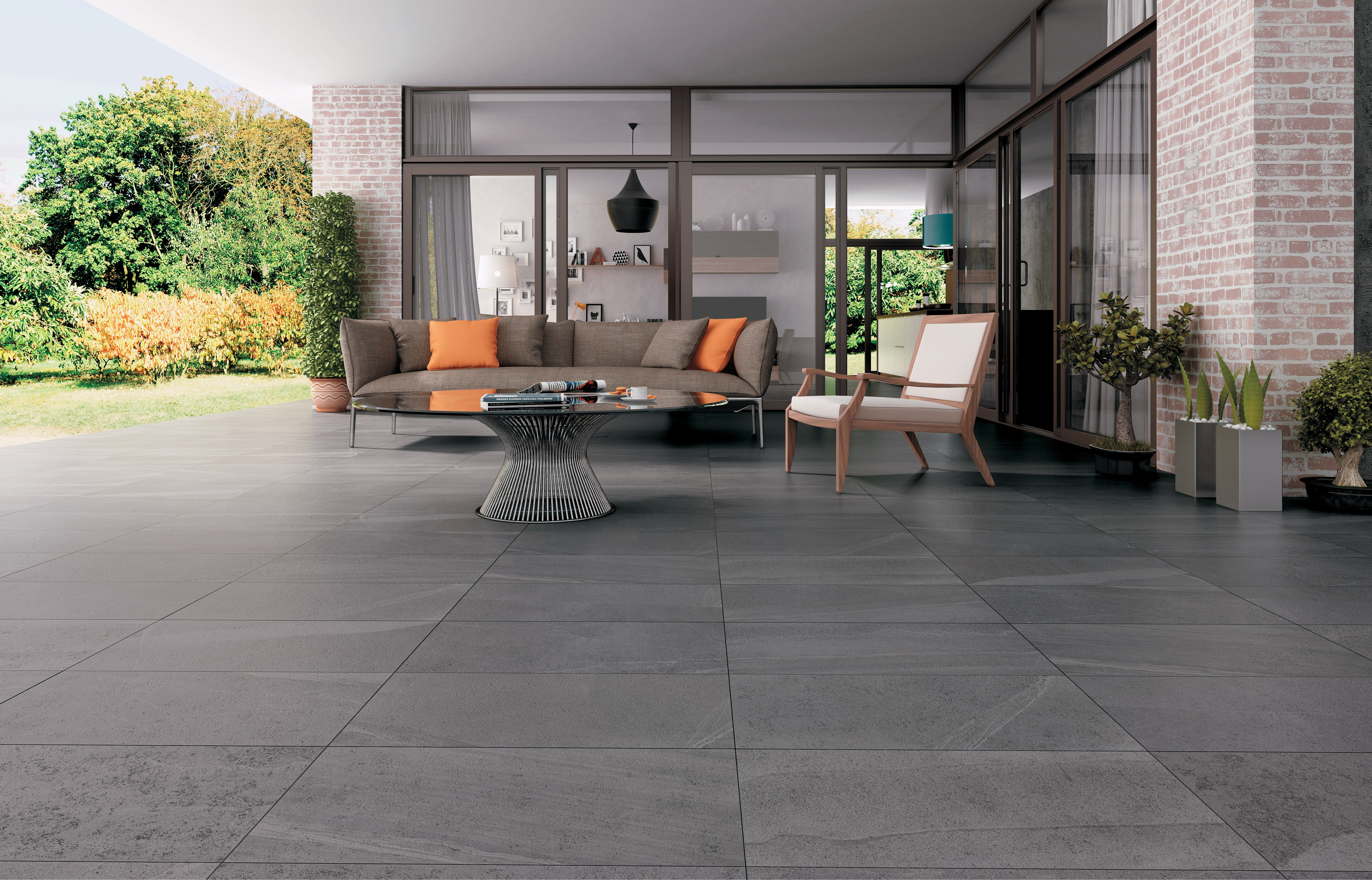 Terracota Pavimento De Gres Coleccion Dolomite 45 X 90 Cm Las Baldosas Ceramicas Pueden Servirnos De Aliadas A La Ho Pavimento Ceramico Exterior Pavimento