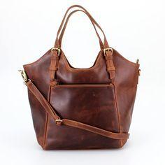 Braunes Leder Handtasche Tote Tasche Von Theleatherstore Auf Etsy Handtasche Leder Braun Lederhandtaschen Taschen Leder