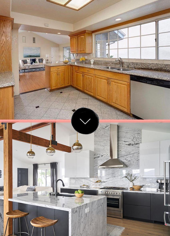 Before Modern Kitchen Cabinets Modern Marble Kitchen Open Floor Plan Kitchen
