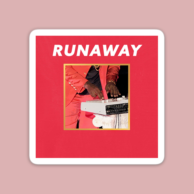 Kanye Mbdtf Runaway Sticker Kanye West Piano Fanart Rap Etsy Fan Art Running Away Stickers
