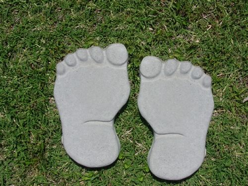 Large footprint feet molds concrete plaster mould set