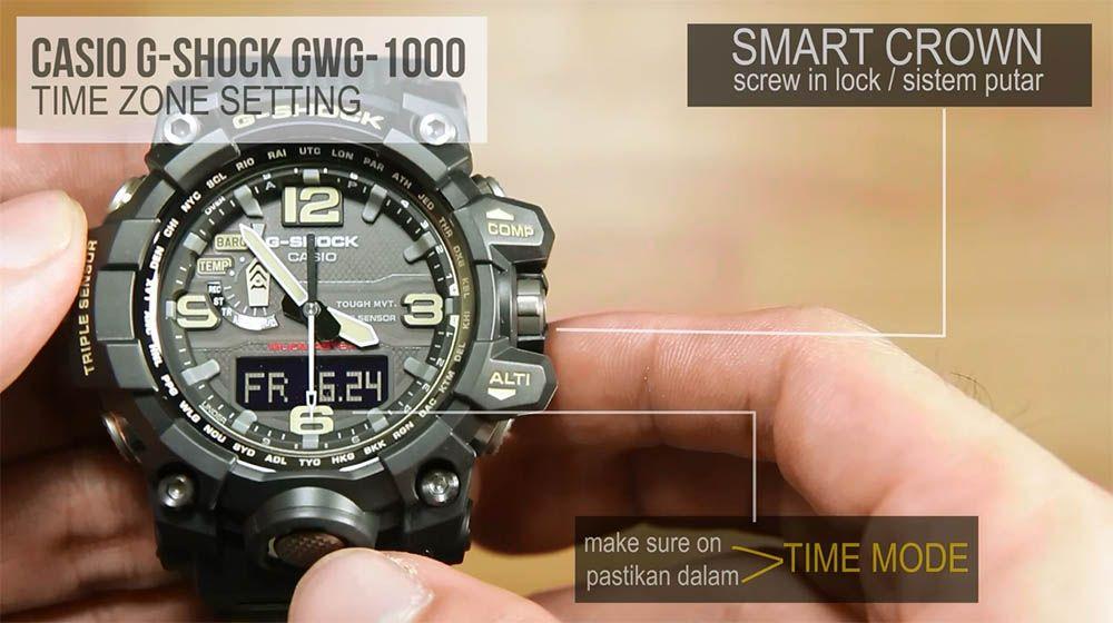 Cara setting dasar jam casio g-shock mudmaster GWG-1000  3accdc25b6