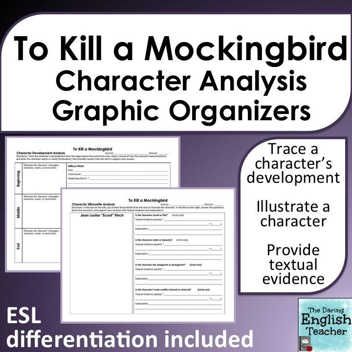 To Kill A Mockingbird Character Analysis Graphic Organizers Character Analysis Graphic Organizer To Kill A Mockingbird Character Analysis