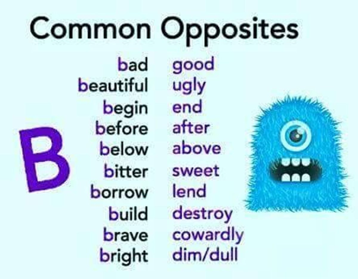 Common Opposite Words in English | English Talks | Pinterest ...