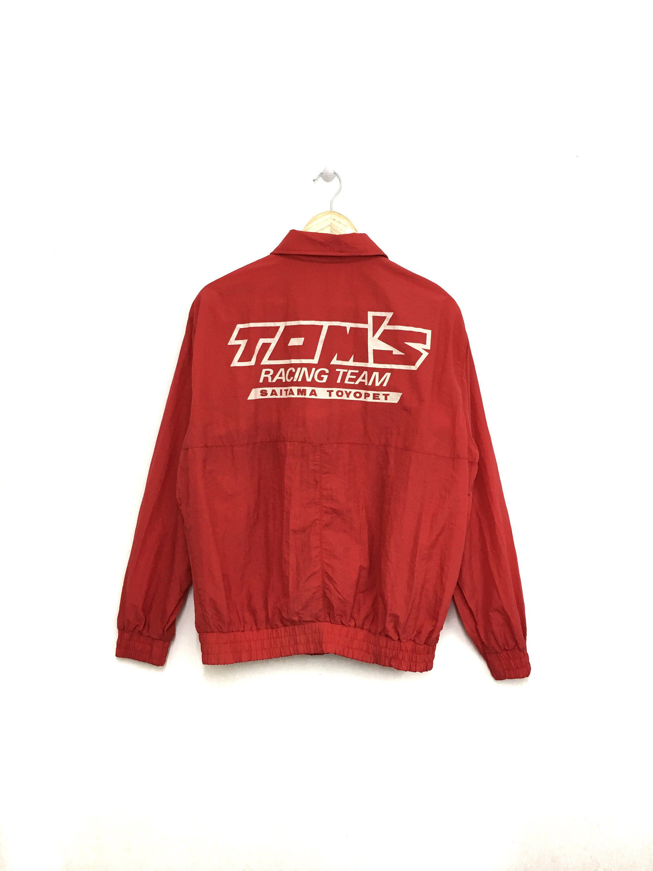 58043fcaec4e Excited to share this item from my  etsy shop  Rare!! Vintage TOM S RACING  Windbreaker Jacket Big Logo Full Zipper Red Color