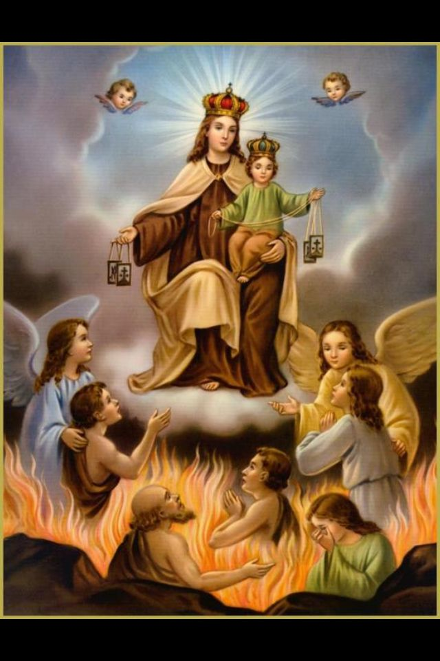 Our Lady Of Mt Carmel The Brown Scapular Olmc Catholic Lady Of