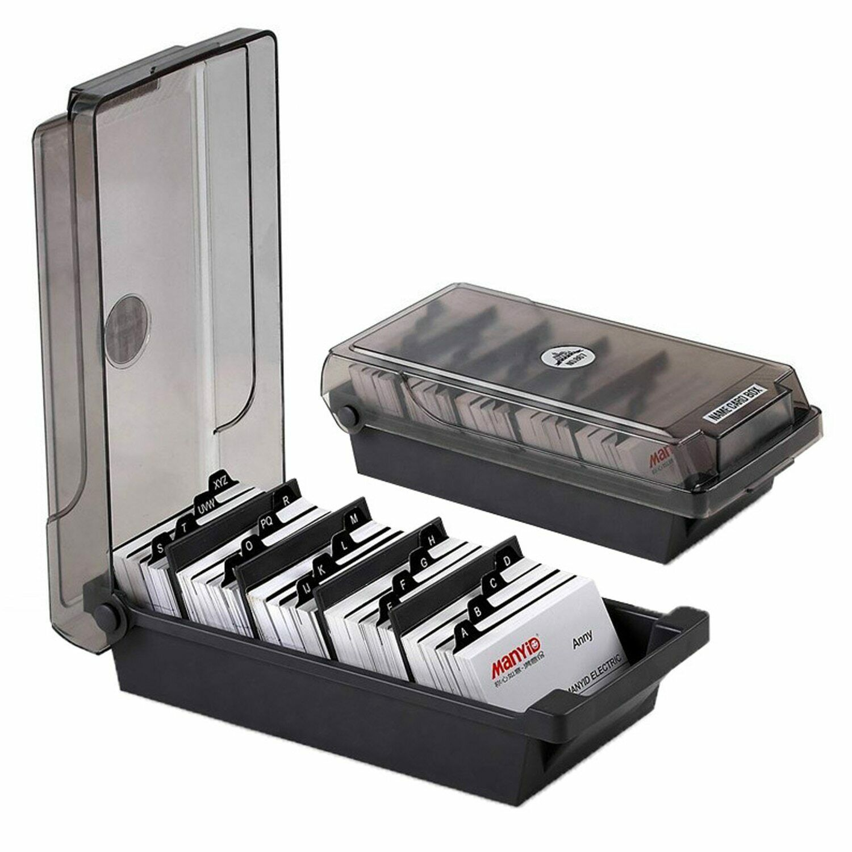 Plastic Alphabetic Business Card Storage Box Office Desktop Organizer Holder Business Card Organizer Business Card Holders Card Storage