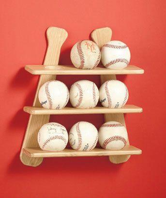Baseball Collection Display Shelf