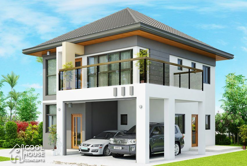 This 4 Bedroom Modern House Is 185 Sq M Total Floor Area 92 Sq M Ground Floor And 93 Sq M S Philippines House Design House Design Small House Design Plans