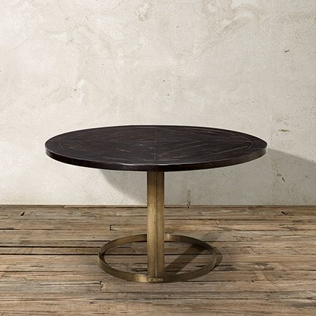 "nobelle 54"" round dining table with wells base 