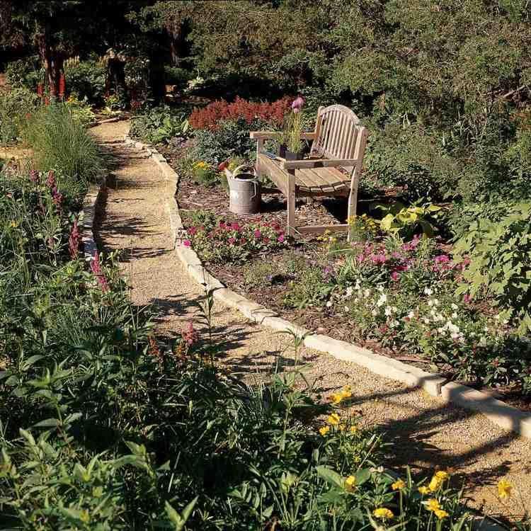 Gartenweg Gunstig Anlegen Ideen Mit Kies Mulch Und Steinplatten In 2020 Abschussiger Garten Gartenweg Garten