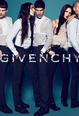 whatmarkymarkwore: tranny in new Givenchy ad?