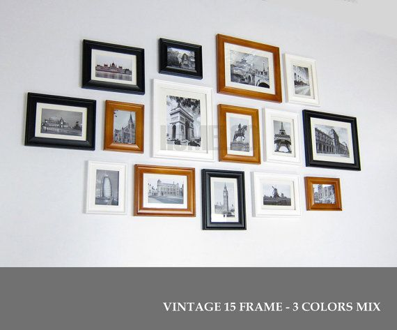 Photo Picture Frame Set Vintage 15 Picture Frames Collage