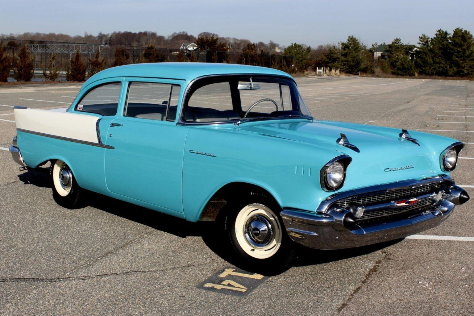 1957 Chevrolet 150 2 Door Sedan 5 Speed In 2020 1957 Chevrolet