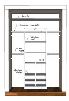 linear closets - Google Search | closet space | Pinterest | Small ...