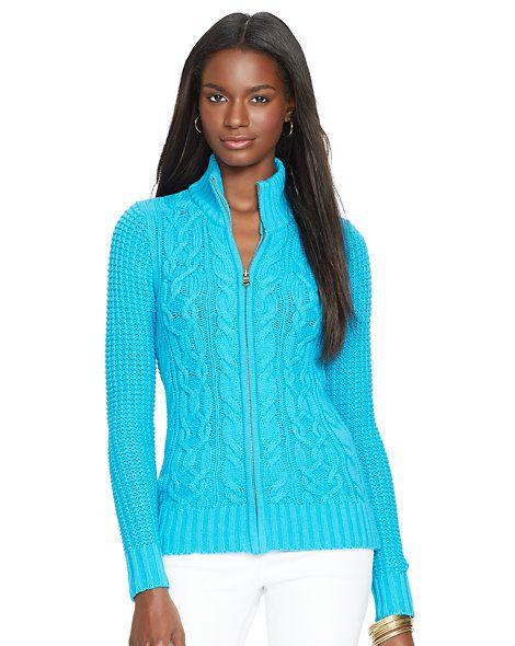 Cable-Knit Full-Zip Cardigan - Cardigans  Sweaters - RalphLauren.com