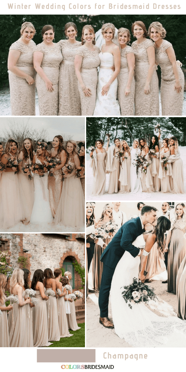 Top 10 Winter Wedding Colors For