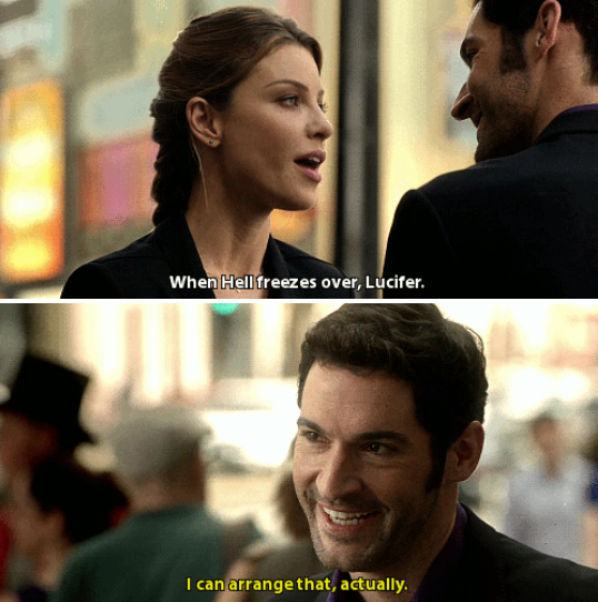 1000 Ideas About Tom Ellis On Pinterest: Chloe And Lucifer --- 1x04: Manly Whatnots