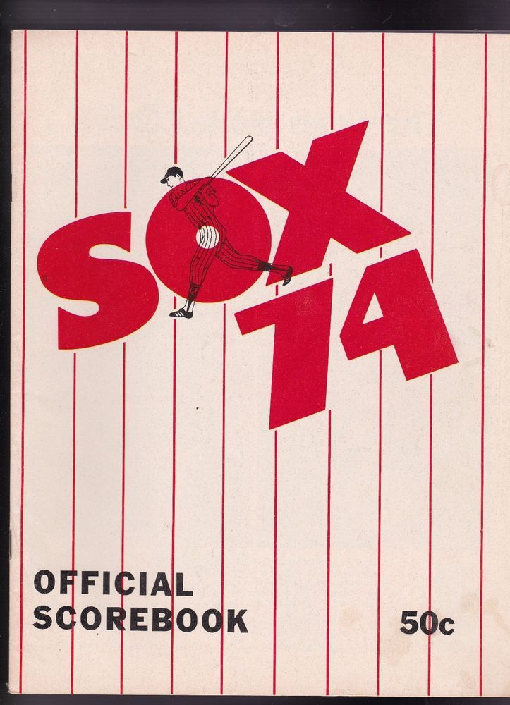 1974 Chicago White Sox vs Milwaukee Brewers Baseball Scorebook - baseball scoresheet