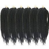 crochet senegalese twist #crochetsenegalesetwist 12'' Synthetic Pretwist BOX Braids Senegalese Twist Crochet Hair Extension Black... - #black #Box #braids #Crochet #Extension #Hair #Pretwist #Senegale