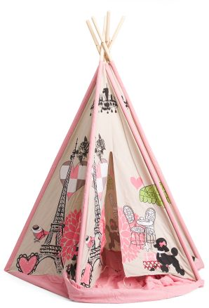 How Cute Is This Paris Teepee Tent!! #teepees #tents #PlayroomDecor #