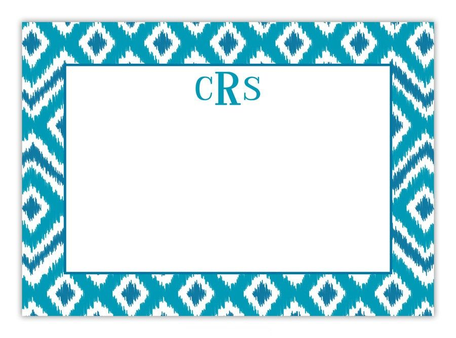 The design on this card is pre-set and available only as shown. Stationery is priced to include up to one line of copy. Monograms and initials are considered one line. When customizing, please note that only three ink colors may be selected for your personalization. Printing in four or more ink colors is available for an additional charge. Please inquire with customer service for details. This card includes white envelopes. Price $132.00