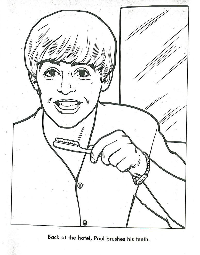 the beatles coloring book quirky dental health lesson - Coloring Book Activities