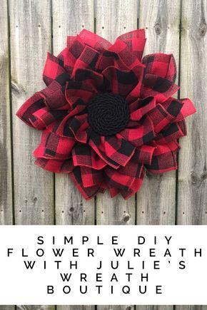Photo of How To Make A Flower Wreath With Walmart Mesh / Winter Wreath / Buffalo Plaid DIY