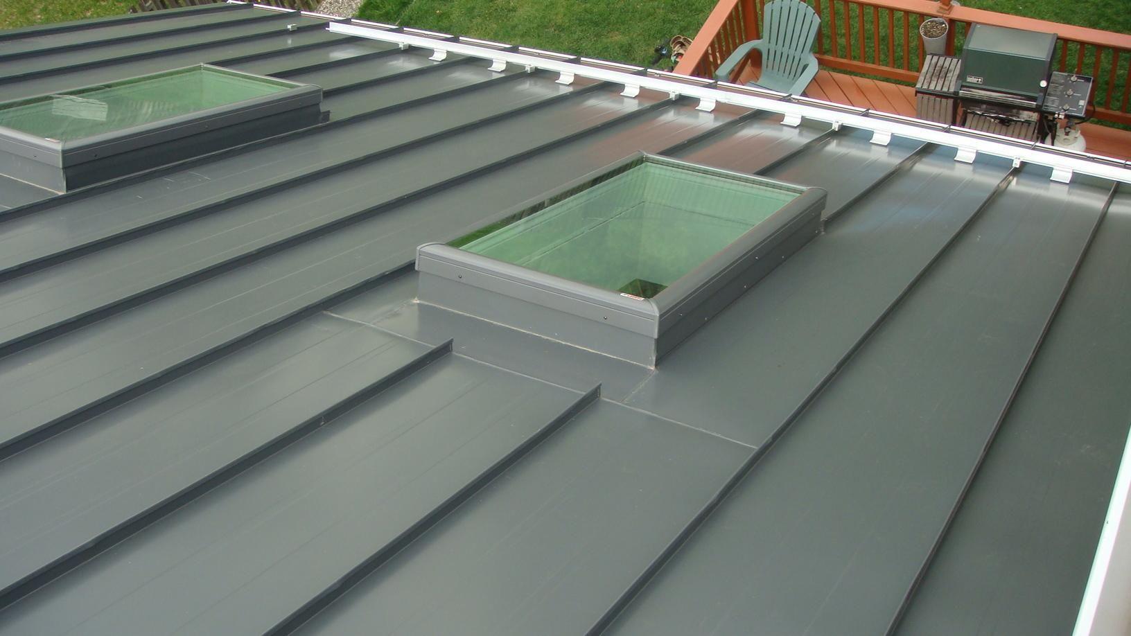 Roof Replacement Custom Grey Standing Seam Metal Roof