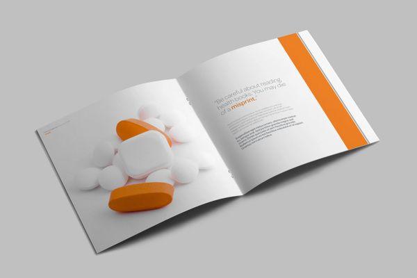 Medical \/ Healthcare Profile Brochure on Behance BW CONCEPT - healthcare brochure