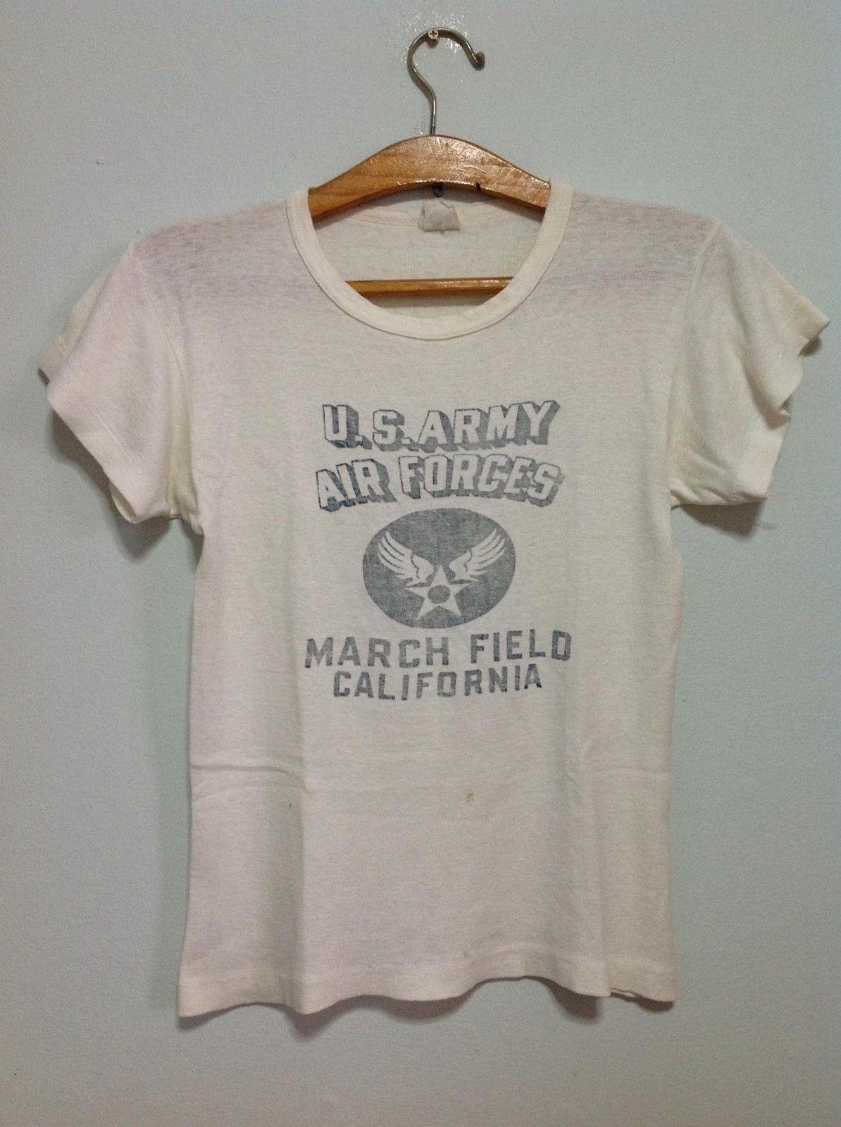 40s Sportswear USAAF march field california US army Air