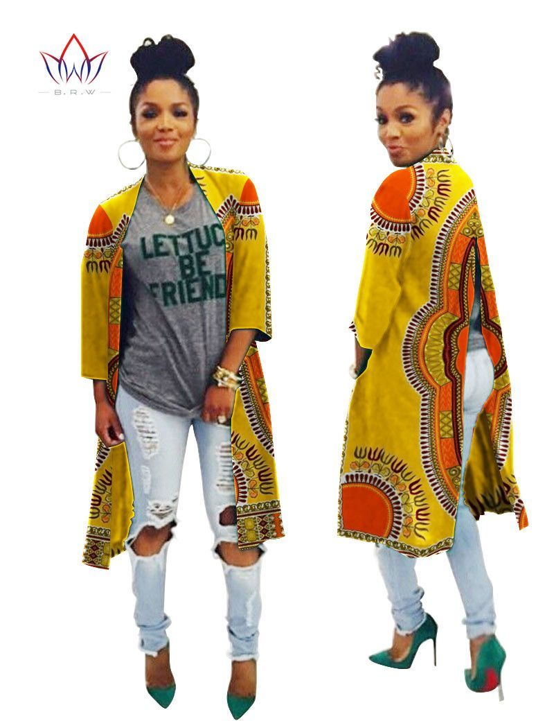 Fashion autunmn women trench coat traditional african clothing crop