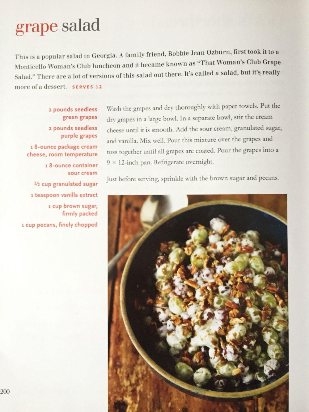Trisha Yearwood S Grape Salad Delish Food Network Recipes Grape Salad Trisha Yearwood Tricia Yearwood Recipes