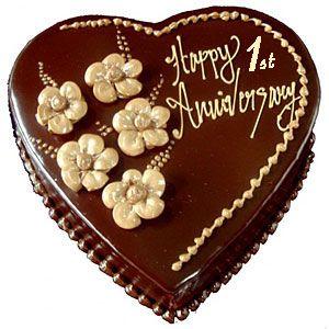 1st Wedding Anniversary Cake Anniversary Cake Ideas Wedding