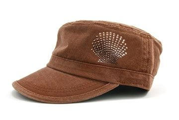 bb57b5e6e14 Ladies Fidel Cap Cameron - Shell Chocolate Smoked Topaz by Dolly Mama