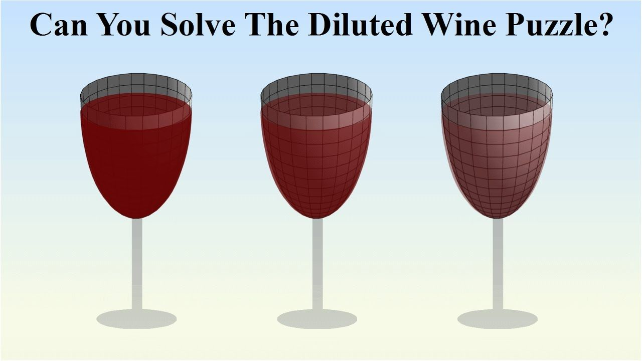 Can You Solve The Diluted Wine Puzzle Canning Wine Solving
