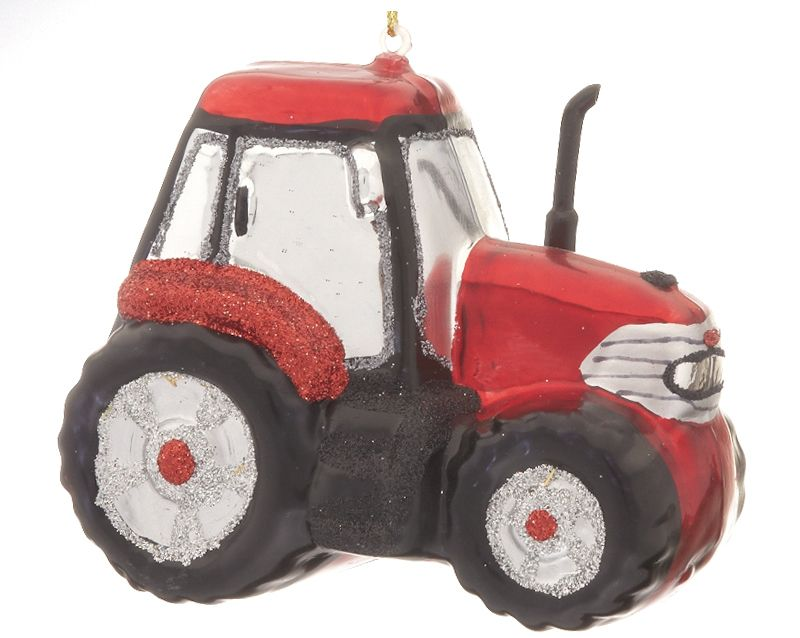 Tractor | Unusual christmas decorations, Red tractor ...