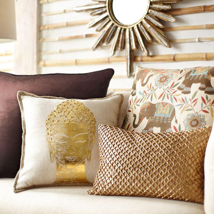 Capri Buddha Pillow   Pepino Home Decor Design.   Home Decor