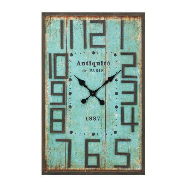 Dot Bo Rectangular Aqua Wall Clock Wall Clock Rectangle Wall Clock Aqua Walls