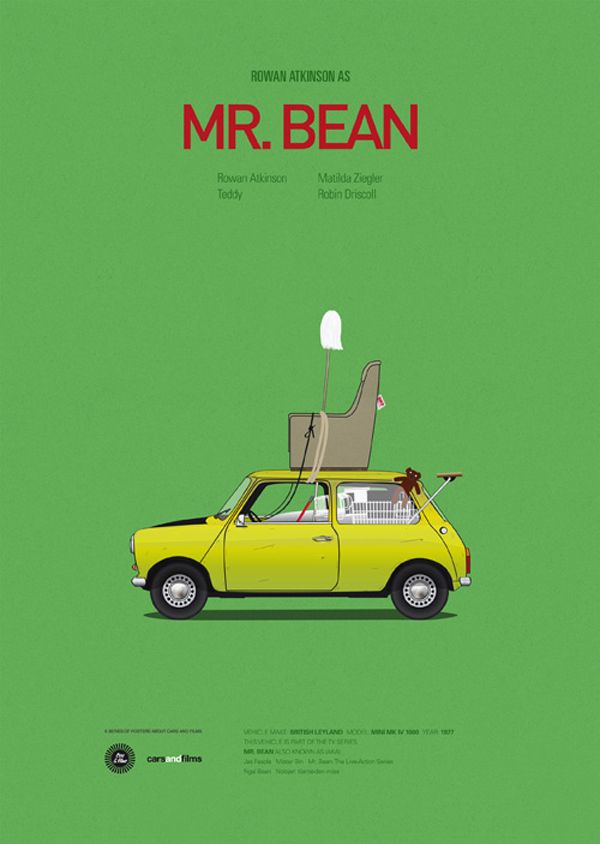 Posters Of Famous Movie Cars By Jesus Prudencio Movie Posters Minimalist Famous Movie Cars Poster Series