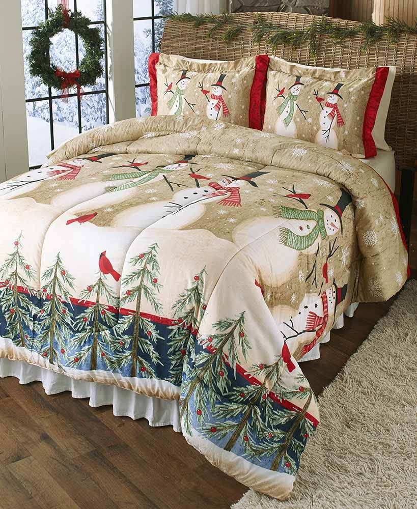 Christmas Comforter.Snowman Christmas Comforter Holiday Winter Home Decor