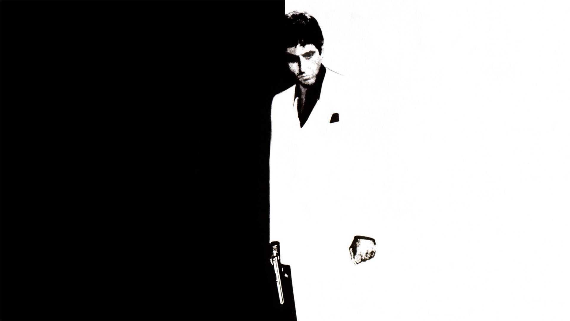 Scarface black and white picture for desktop and wallpaper