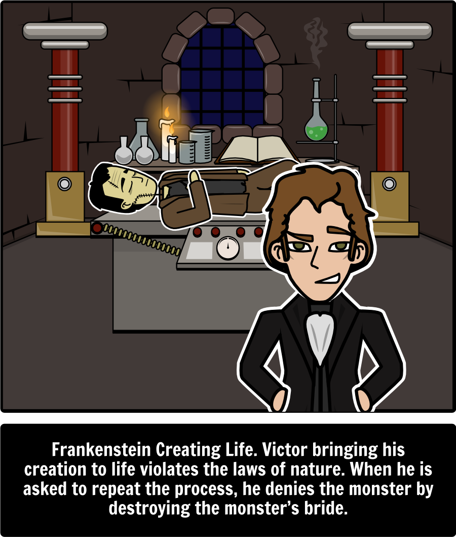 frankenstein literary conflict explore literary conflicts from frankenstein literary conflict explore literary conflicts from mary shelley s frankenstein storyboard that