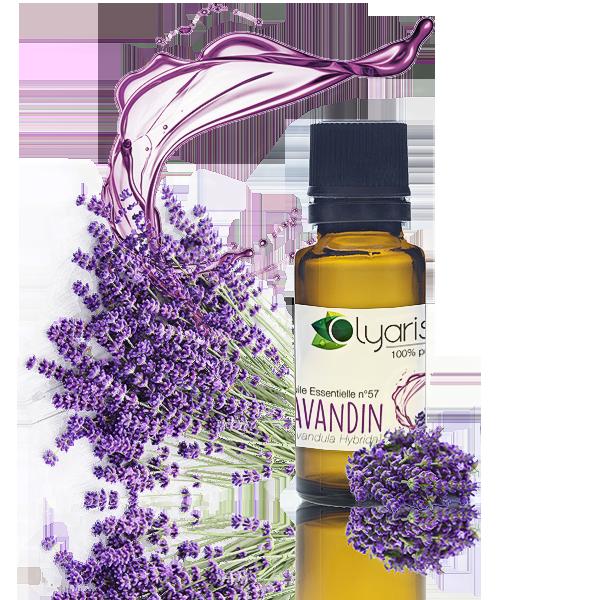 Que faire sans elle en aromathérapie ? L'huile essentielle de lavandin d'Olyaris aide à trouver le sommeil est anti-dépressive, aide à la gestion du stress et est anti-infectieuse.
