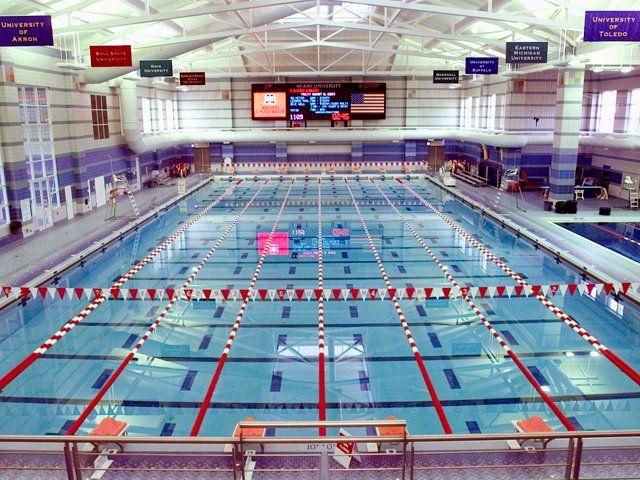 Corwin m nixon aquatic center miami university miamioh campus pinterest miami for University of cincinnati swimming pool