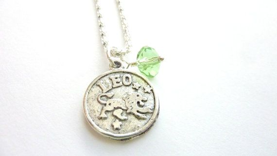 LEO Necklace August birthstone Zodiac jewelry by Dewdropsdreams, $18.00 https://www.etsy.com/listing/150759800/leo-necklace-august-birthstone-zodiac?ref=shop_home_active