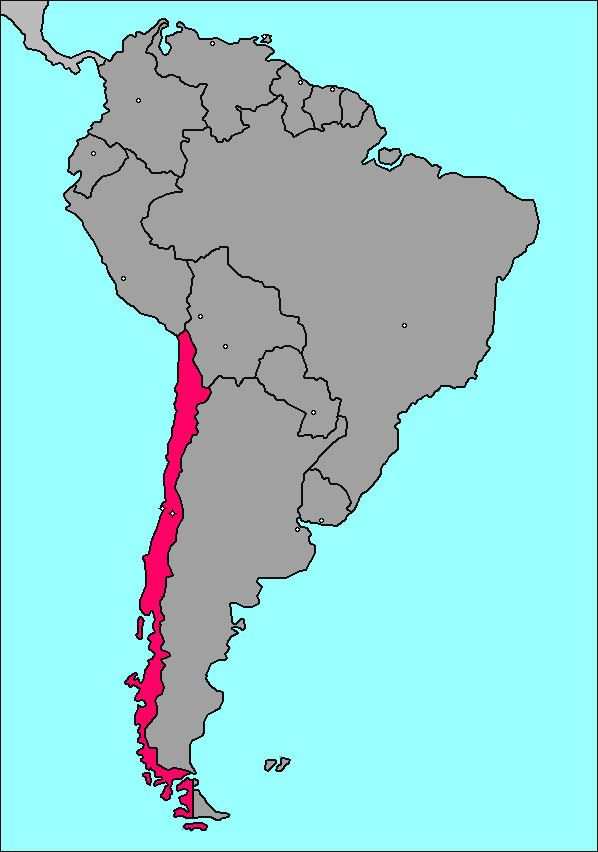 Mapchile ChilePostage Stamps Pinterest - Chile map