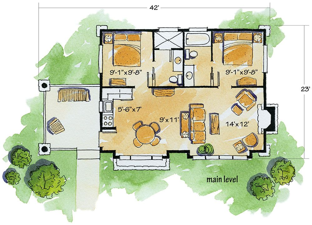 Plan 11529kn Weekend Mountain Escape Rustic House Plans Craftsman Style House Plans Small House Design